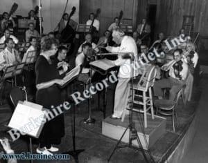 Eleanor Roosevelt, Serge Koussevitzky and the Boston Symphony Orchestra, 1947
