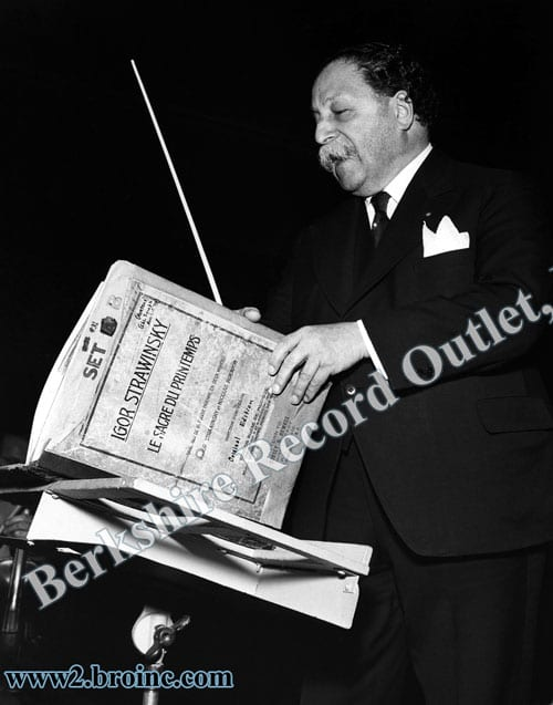 Pierre Monteux with 'Rite of Spring' score